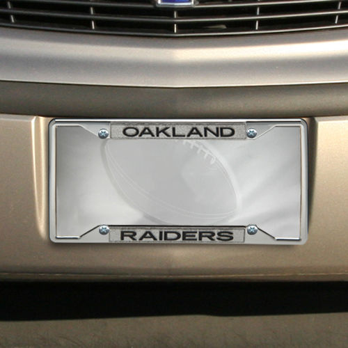 Oakland Raiders Team Silver Glitter Metal Frame