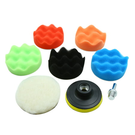 3 Inch Polishing Cleaning Waxing Buffing Pad Sponge Set for Car Auto Polisher - image 5 of 5