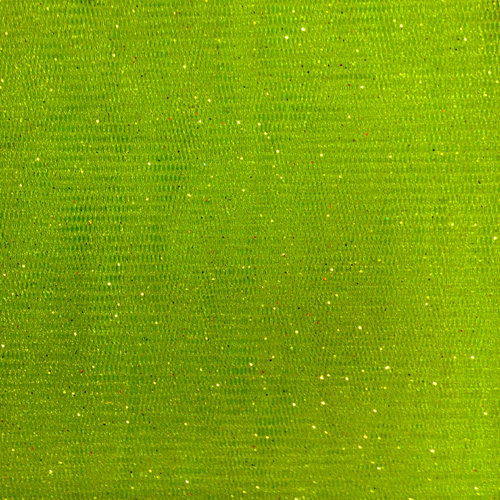 Party Time AP Polymesh Glitter Lime Fabric
