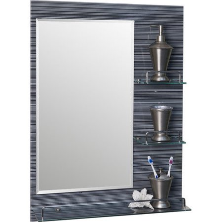 Danya B Milan Vanity Bathroom Mirror with Shelves