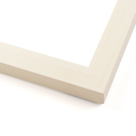 15x47 White Wash Wood Picture Frame - With Acrylic Front and Foam Board