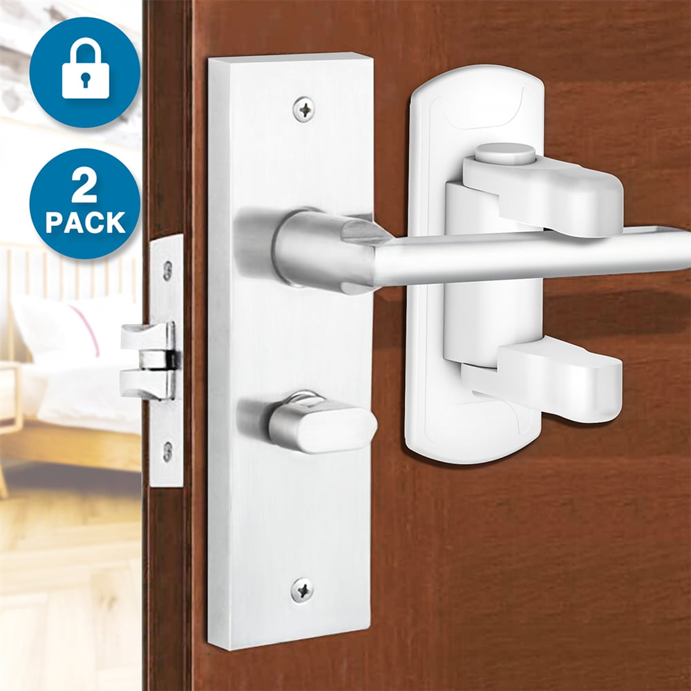 3M Adhesiv 2 Pack Door Lever Lock-Proof Door Handle for Baby Child Kids Safety