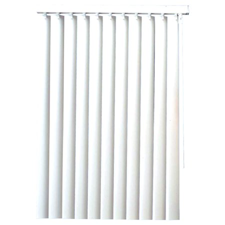 Designer'S Touch 810712 Vinyl Vertical Blinds With Valance, White, 78X84 In. Curtains Vertical Blinds