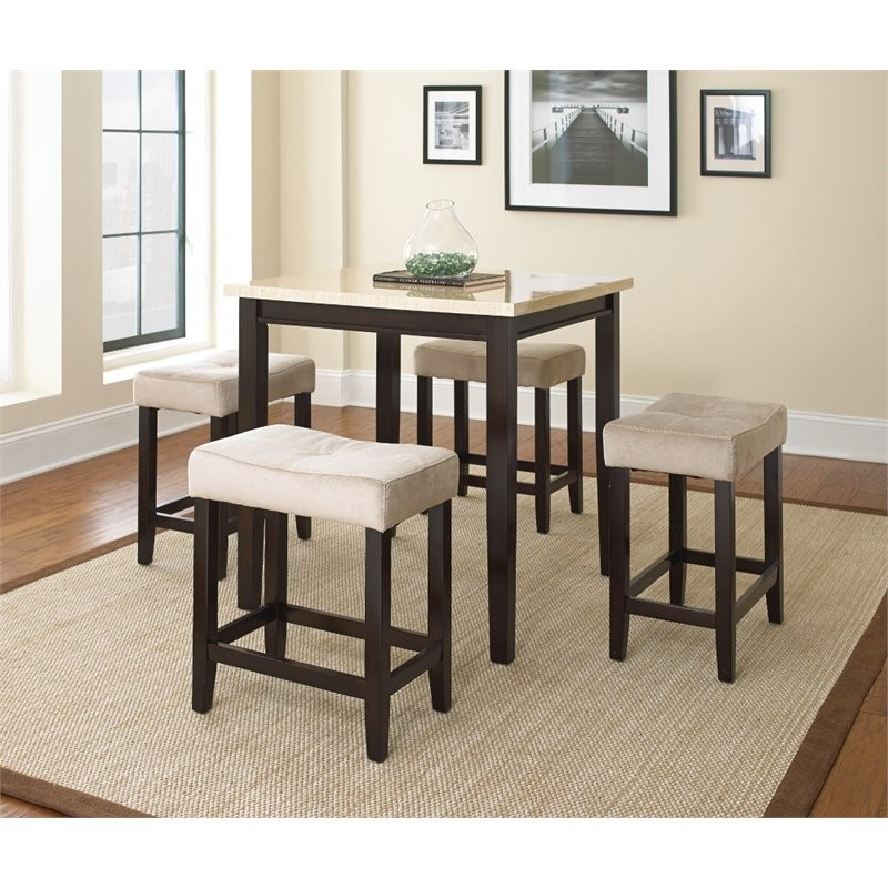 Aberdeen 5-Pack Set - Ivory Marble Top