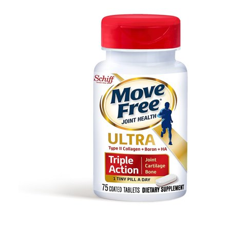 Schiff Move Free Ultra Triple-Action Coated Tablets, 75 Ct (Coated Carbon)