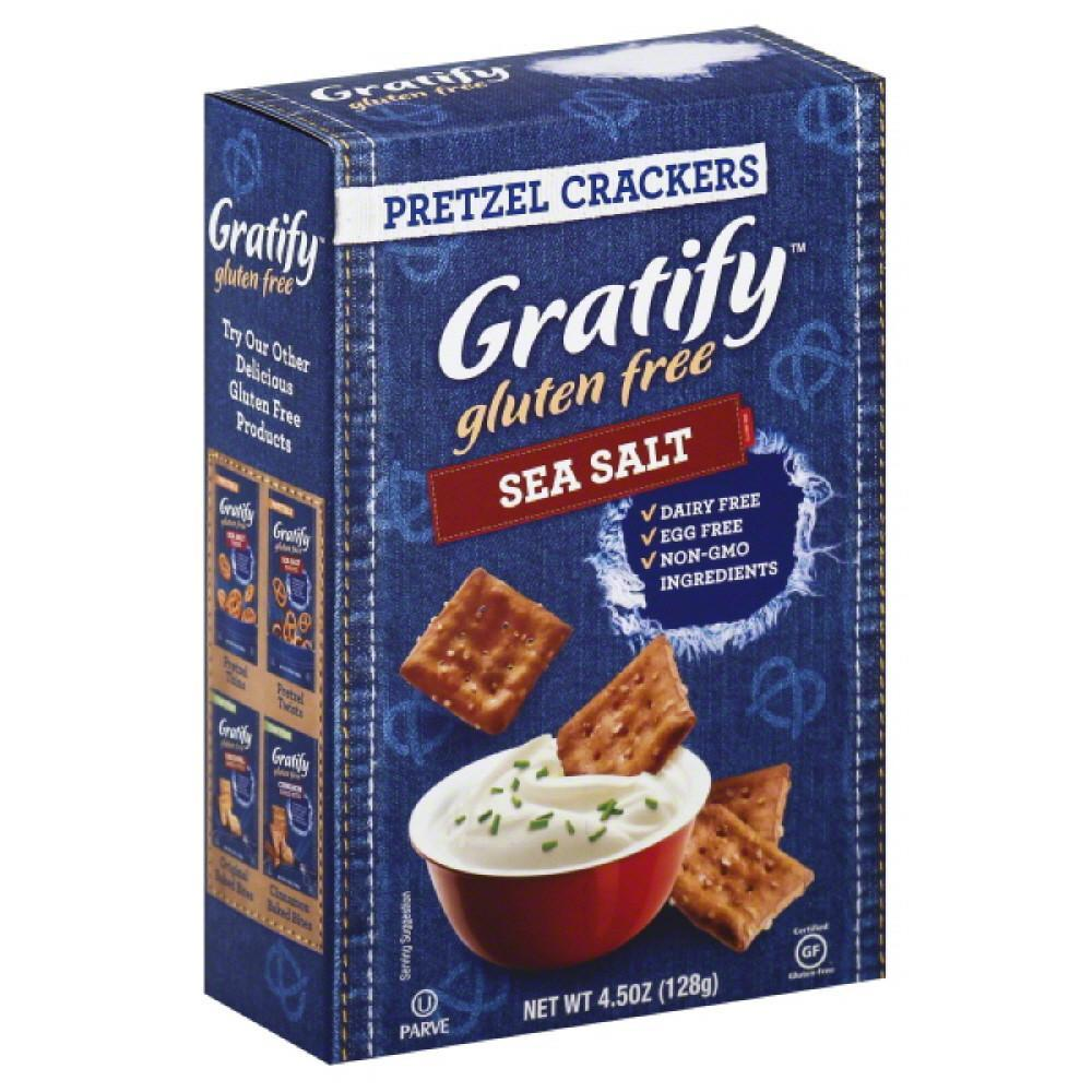 Gratify Sea Salt Pretzel Crackers, 4.5 Oz (Pack of 12)