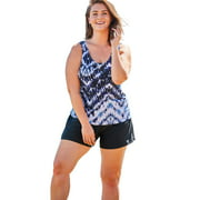 Swim 365 Women's Plus Size Classic Tankini Top