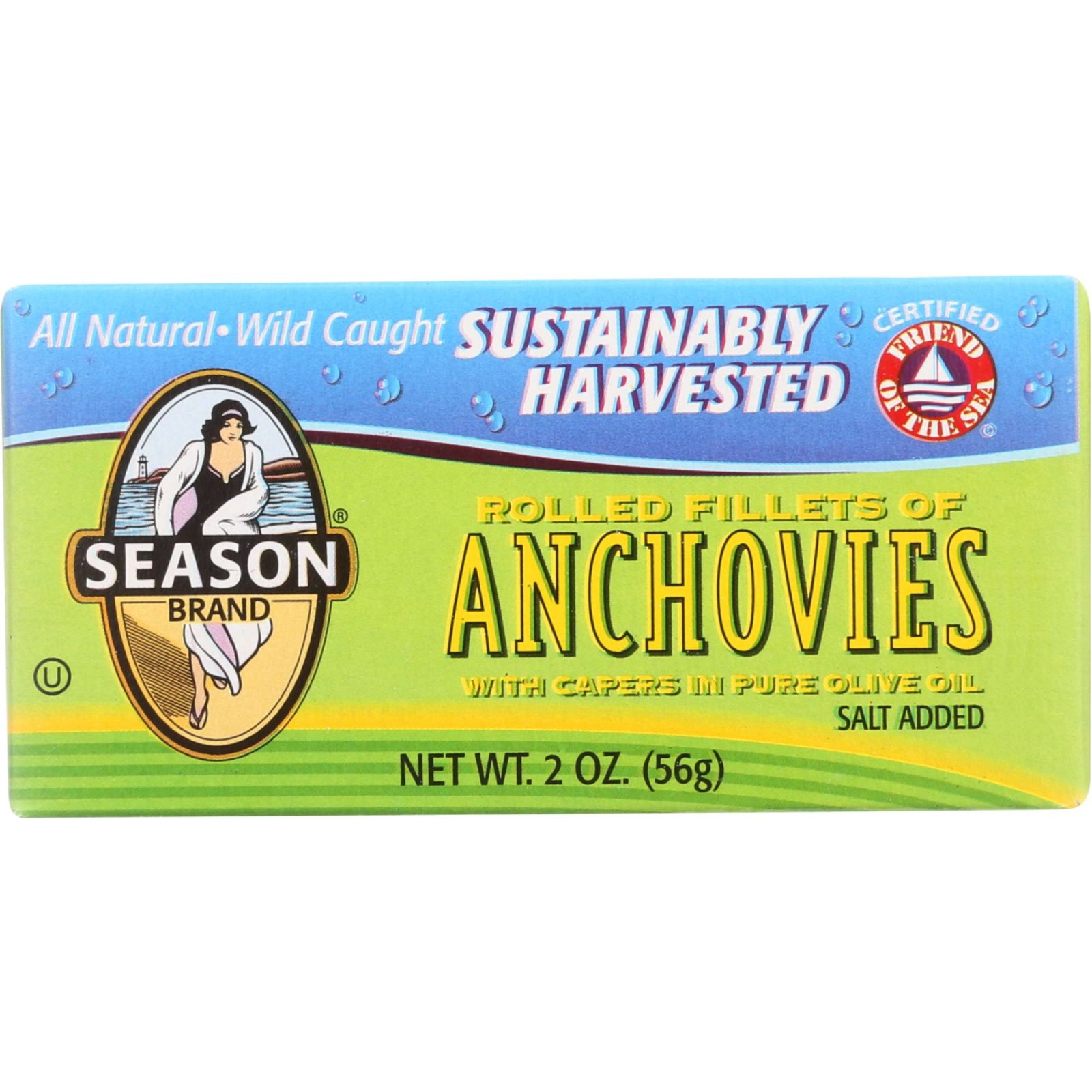 Season Brand Anchovies - Rolled Fillets - Salt Added - 2 ...