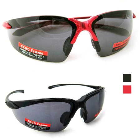 Polycarbonate Sunglasses Men Womens UV Protection Shatterproof TR90 Frame Sports ()