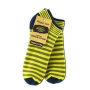 Maggie's Organics - Footie Socks, Stripe Green 9-11