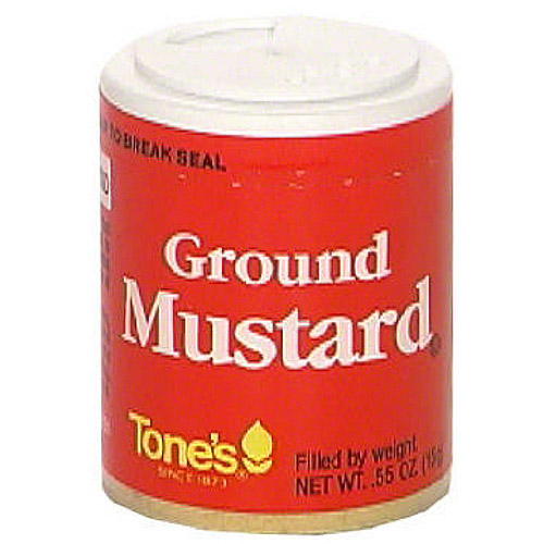 Tone's Ground Mustard, .45 oz (Pack of 6)