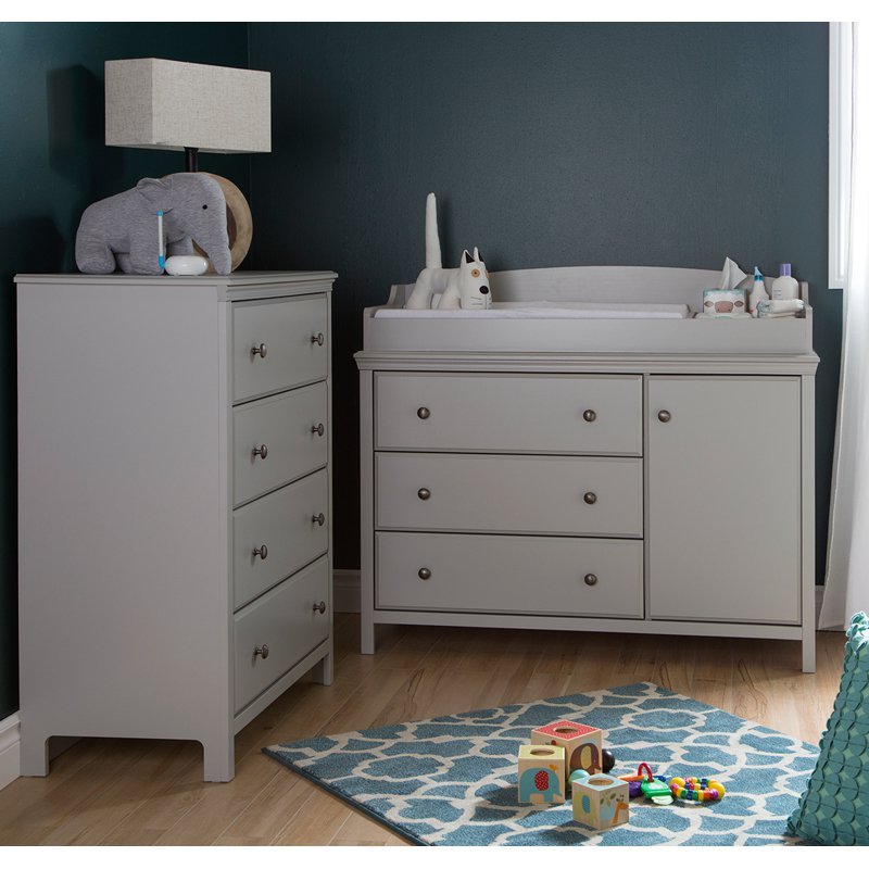 South Shore Cotton Candy Changing Table and 4 Drawer Chest by South Shore