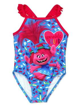Trolls Toddler Girls One-Piece Swimwear Swimsuit