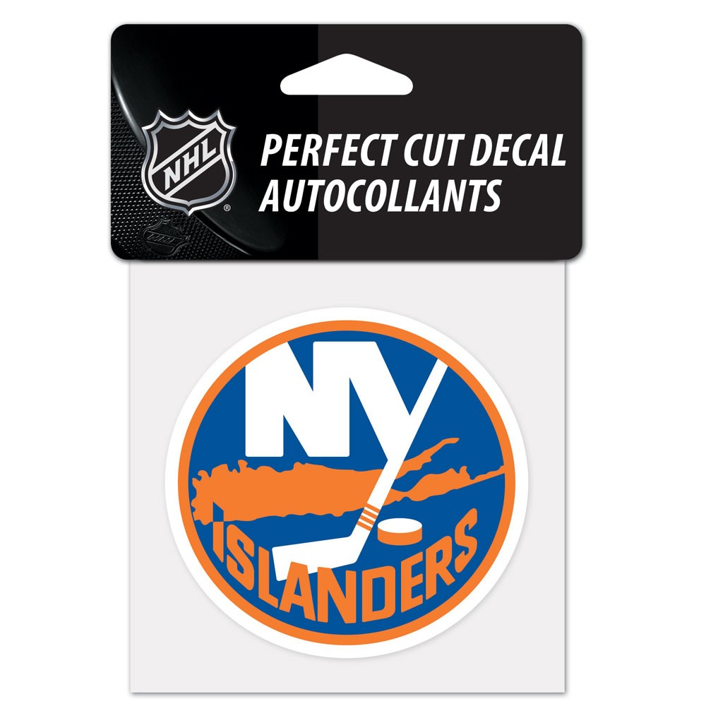 New York Islanders Official NHL 4 inch x 4 inch  Die Cut Car Decal by Wincraft