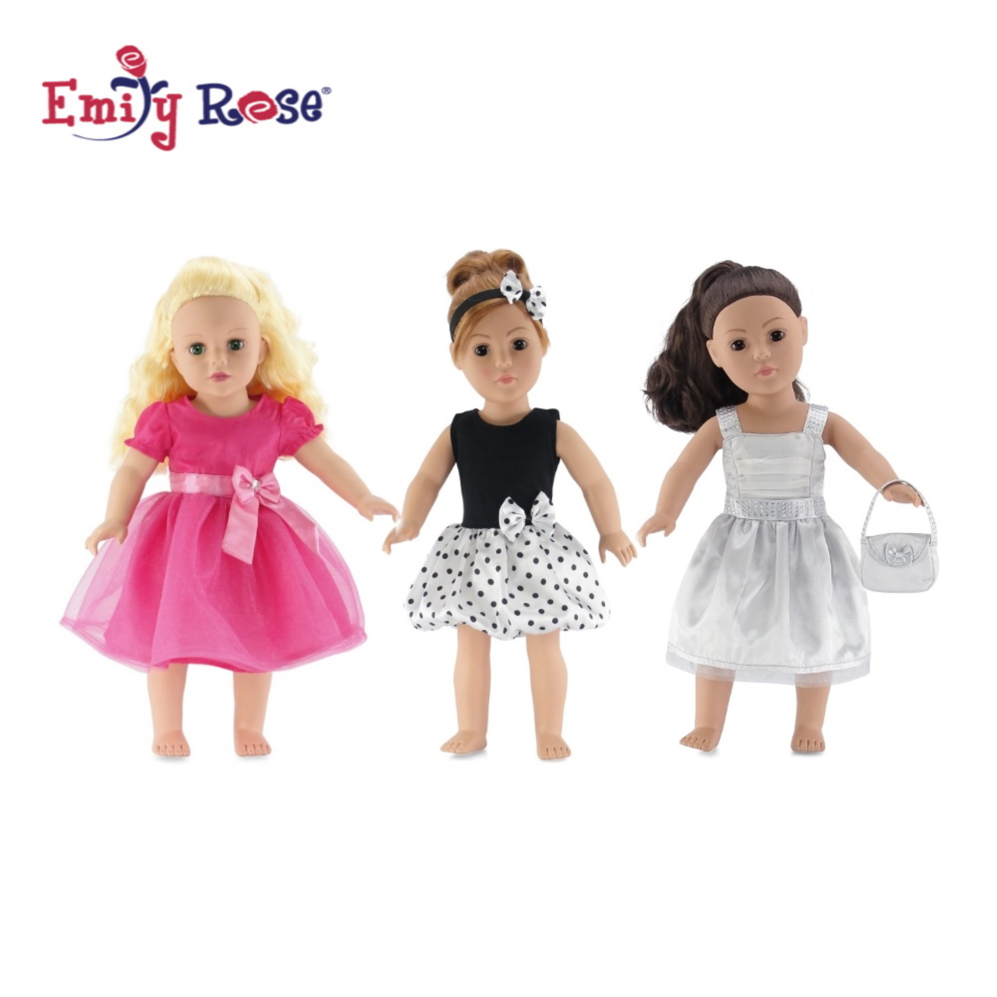 MATCHING DRESS FOR A DOLL WHAT A DOLL RUFFLED PINK PLAID DRESS 6-6X 10-12