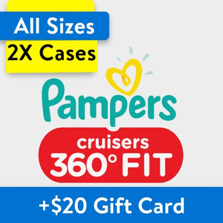 Buy 2, Get $20 Gift Card: Pampers Cruisers 360 Fit Diapers, OMS...