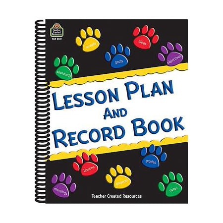Paw Prints Lesson Plan and Record Book - History Lesson Plan On Halloween