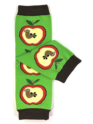 ALLYDREW Funky Prints & Patterns Baby Leg Warmer & Toddler Leg Warmer for Boys & Girls, A is for Apple