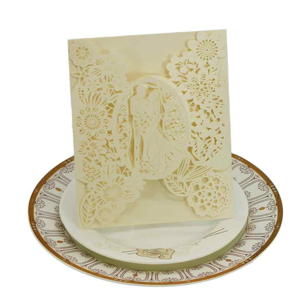 20PC Delicate Carved Romantic Wedding Party Invitation Card Envelope