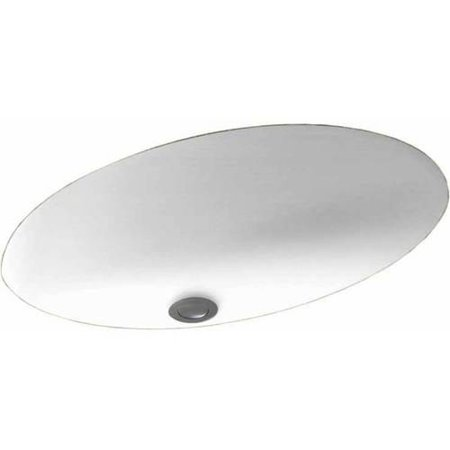 "Swan UL-1613-010 Swanstone 16"" x 5.625"" Undermount Oval Bathroom Sink with Overflow, Available in Various Colors"