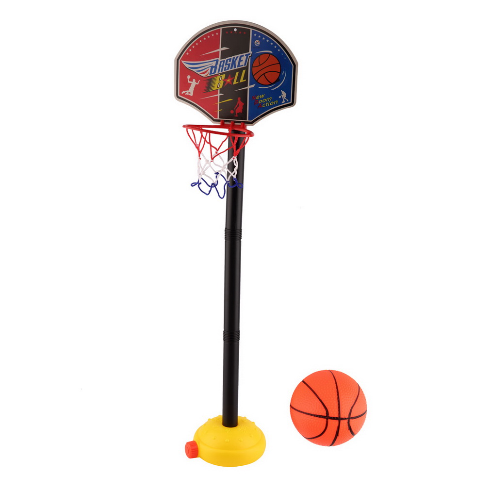 Kids Adjustable Basketball Stand, Sports Portable Basketball Toy Set with Stand Ball & Pump Toddler Baby Safe inflatable... by