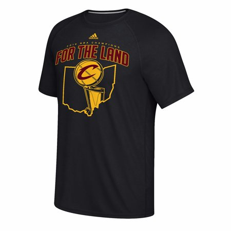 Cleveland Cavaliers Nba Adidas Black   For The Land   Ultimate Climalite Performance Short Sleeve T Shirt For Men