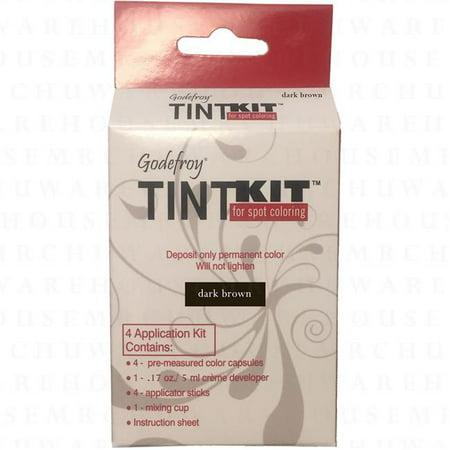 Godefroy Tint Kit - 4 Application Dark Brown (Hair Lightening Products For Dark Brown Hair)
