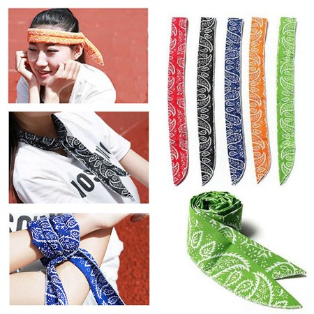 Scarab Collection (The Noble Collection 1PC Summer Body Ice Cool Cooling Wrap Necktie Sport Headband Neck Cooler Scarf )