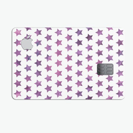 The Purple Grunge All Over Stars  - Premium Protective Decal Skin-Kit for the Apple Credit Card