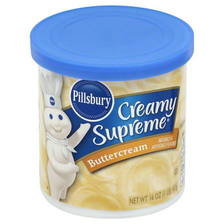 Fondarific Butter Cream Fondant ((5 Pack) Pillsbury Creamy Supreme Butter-Cream Frosting, 16 oz )