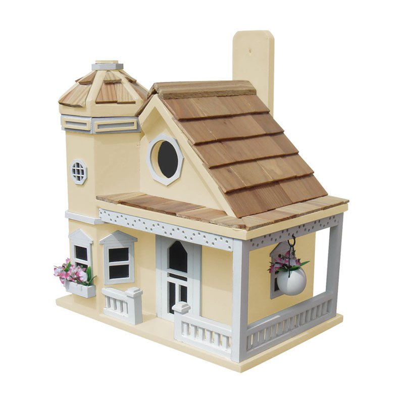 Home Bazaar Flower Pot Cottage Birdhouse by Home Bazaar Inc.