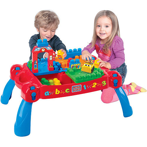 Mega Bloks First Builders Build 'n Learn Table Plus Bonus Play Set