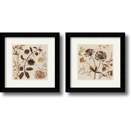 (Amanti Art 'Natural Field' by Lisa Audit Framed Painting Print (Set of 2))