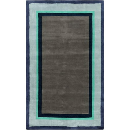 5 X 8 Rectangular Mass Flashy Area Rug Gray Blue Green And