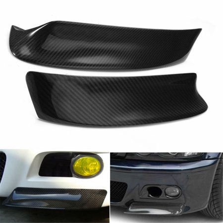 Racing Carbon Fiber Front Splitter Bumper Lip Spoiler For BMW E46 M3 99-06 Bmw E46 Front Bumper