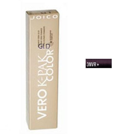 - Joico Vero K-Pak Age Defy Color Permanent Creme Color 3NVR+ Natural Violet Red Ebony Brown
