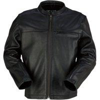 Z1R Munition Mens Leather Jacket Black