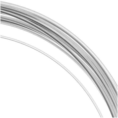 BeadSmith Non-Tarnish Silver Plated Copper Square Craft Bead Wire 21Ga (12Ft)