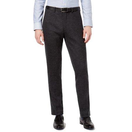 Bar III Mens 36X30 Dress Flat Front Wool Stretch (Mens Comfort Stretch Wool Dress)