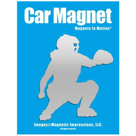 Softball Catcher Car Magnet Chrome