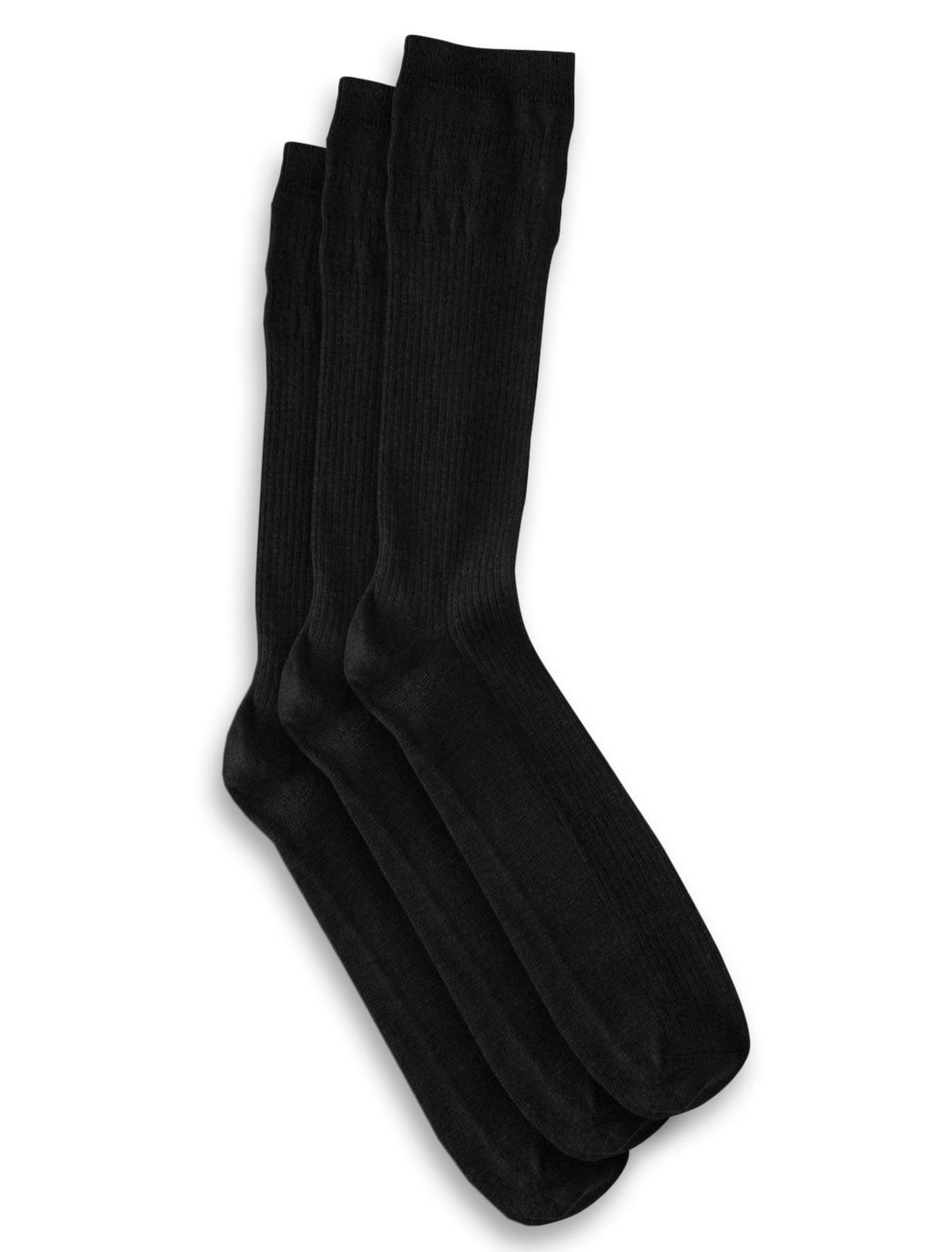 Men's Big & Tall Harbor Bay 3-pk Non-Elastic Crew Socks