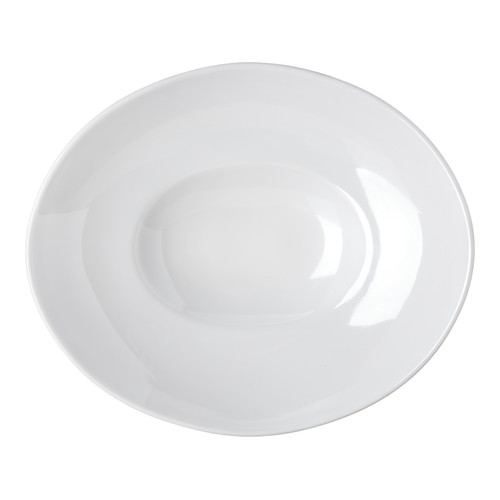 Carlisle Food Service Products Halcyon 16 oz. Oval Melamine Pasta Bowl (Set of 12) by