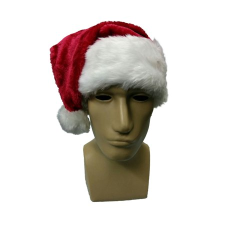 Santa Hat Snapback With Faux Fur Trim Border and Puffy Ball Red Dark Red -  Walmart.com 398c6e75719