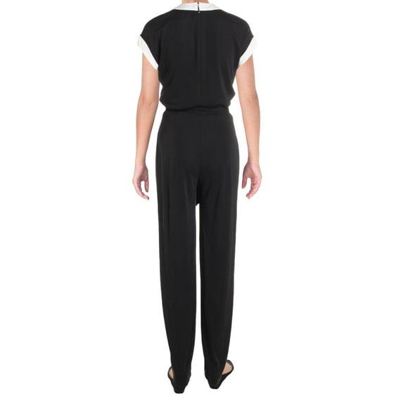 dab9e9193491 Lauren Ralph Lauren - Two-Tone Jersey Jumpsuit - Walmart.com