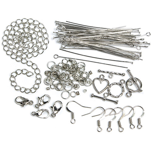 Jewelry Basics Metal Findings, 134pk, Silver, Starter Pack
