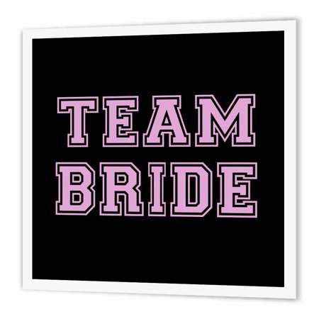 3drose Team Bride Girly Pink Text On Black Bachelorette Party Or