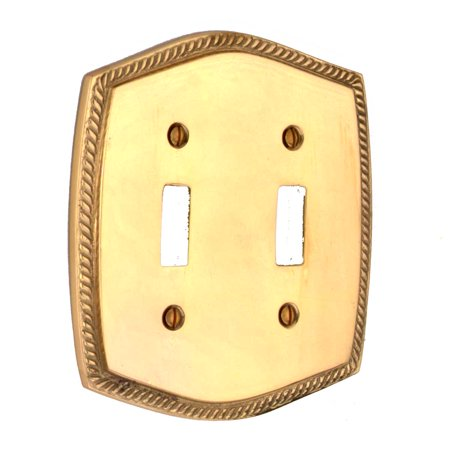 Double Gfci Solid Brass - Switchplate Bright Solid Brass Double Toggle | Renovator's Supply
