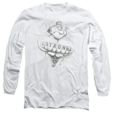 Popeye Strong Mens Long Sleeve Shirt