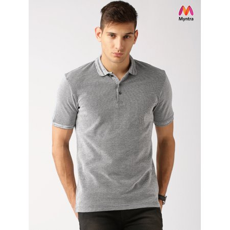 b3c1e898239 Ether by Myntra Grey Polo T-shirt - image 1 of 1 ...