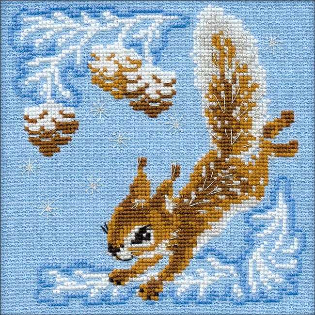 6 x 6 in. Small Squirrel Counted Cross Stitch Kit - 15 Count